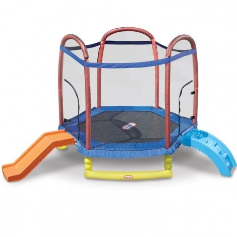 Climb 'n Slide 7ft. Trampoline | Little Tikes