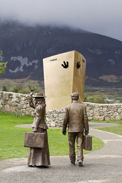 Titanic memorial-In the village of Lahardane in the parish of Addergoole in County Mayo, located at the foot of Nephin (the mountain you see in the background here).