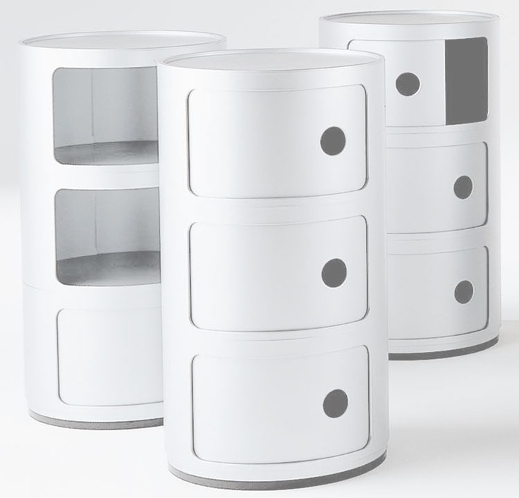 Kartell - Componibili Round 3 Door Tower