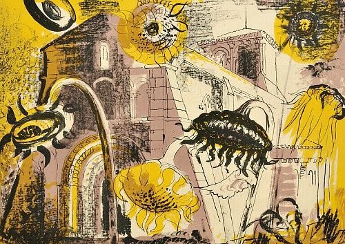 stilllifequickheart:  John Piper Sunflowers at Marignac 1956