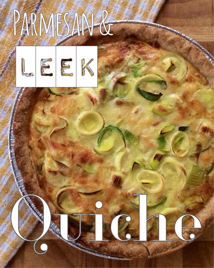 Simple and delicious Parmesan & leek quiche