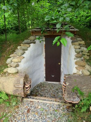 complete earthbag root cellar