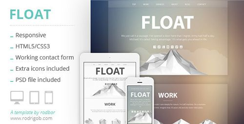 ThemeForest - Float - Responsive HTML One-Page Template - RIP