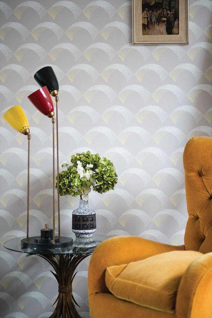 Exceptional A Pretty Art Deco Inspired Scallop Motif Wallpaper Design, With A  3 Dimensional Effect Idea
