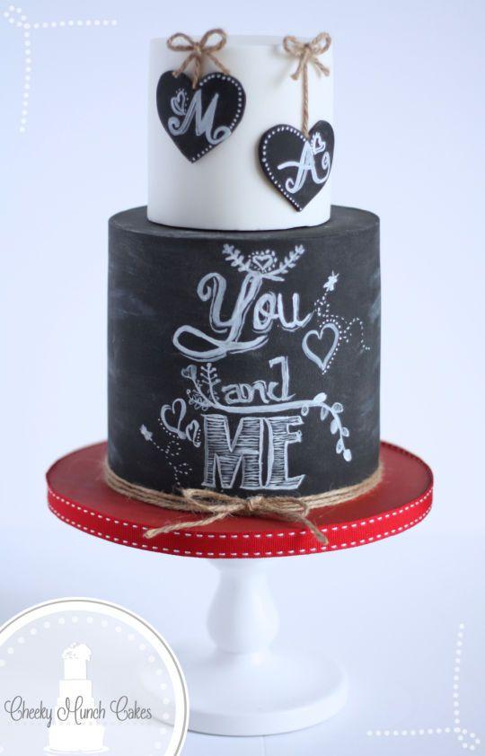 Valentines Chalkboard Cake
