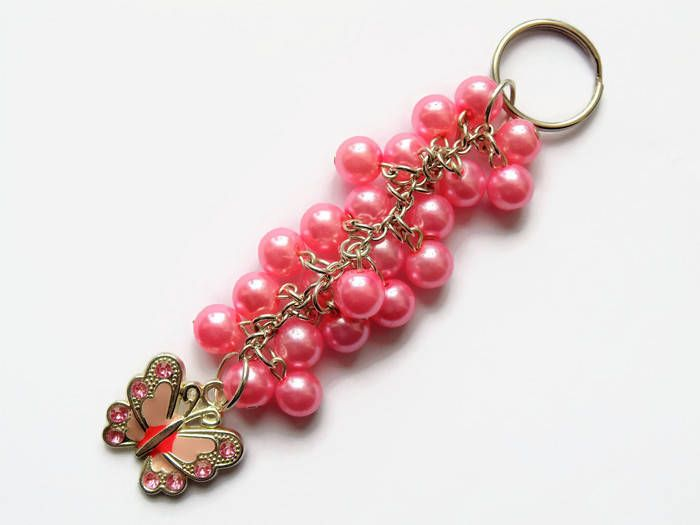 From my #etsy shop: Butterfly keyring, Butterfly gift, butterfly accessory, mothers day gift, gift for her, gift for mum, butterfly bag charm, handbag charm #accessories #mothersday #butterfly http://etsy.me/2trbnc9