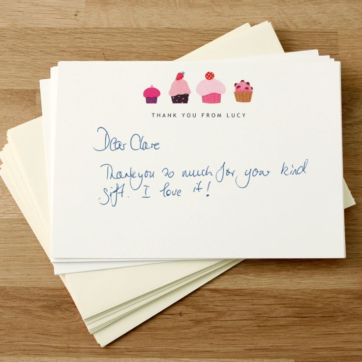 Personalised thank you cards (set of 8)   hardtofind.