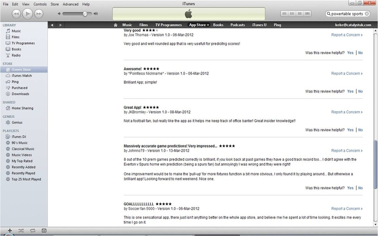 PTSoccer EPL reviews from the Apple App Store!!! App