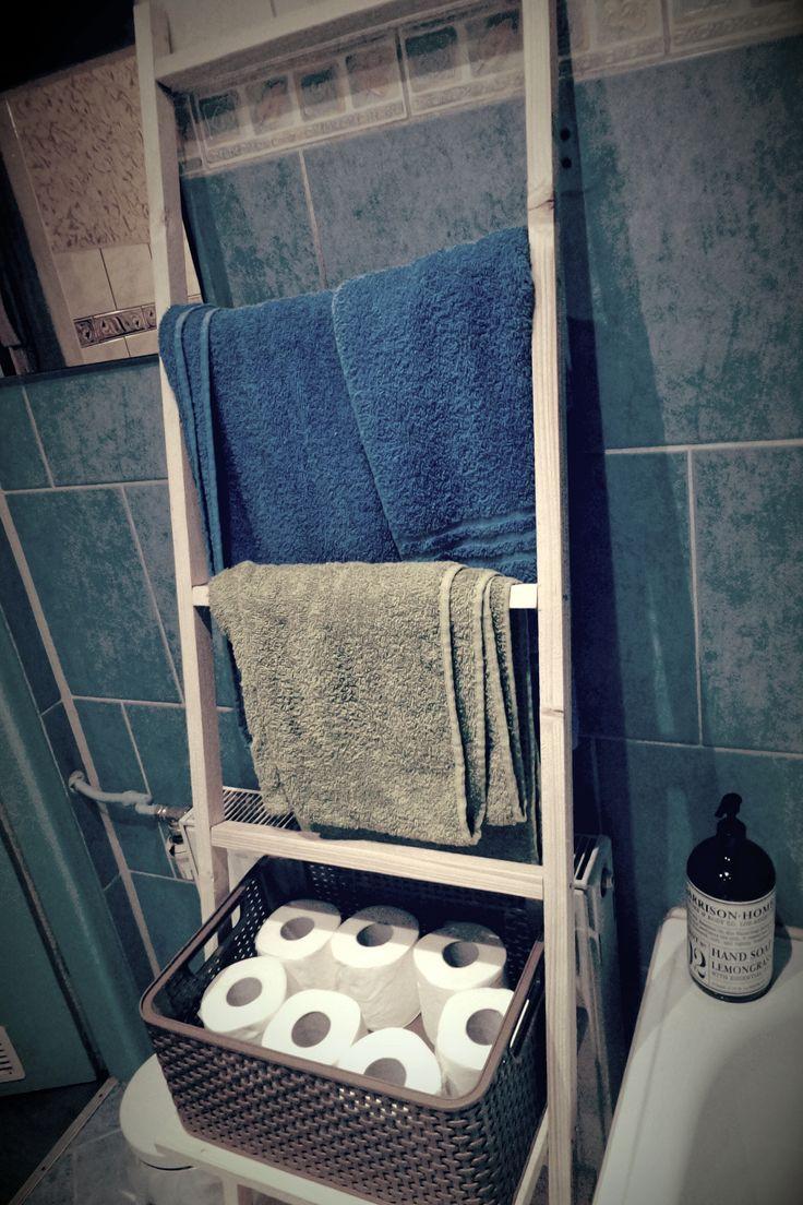Bathroom towel ladder, self made always better made.