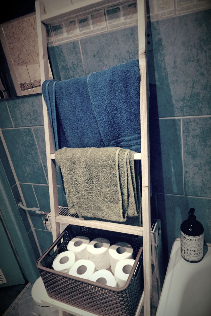 Bathroom towel ladder, self made always better made.