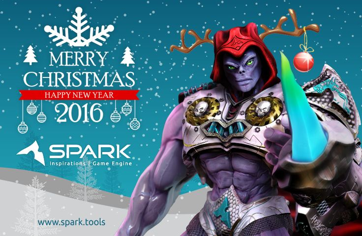 Happy Holidays to everyone!!! May the new year be full of love and health and lots of creativity using @SparkGameEngine! #gamedev www.spark.tools