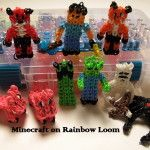 Minecraft Rainbow Loom Characters
