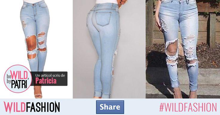 Share dacă ești gata să-ți arăți picioarele frumoase într-o pereche de blugi rupți!