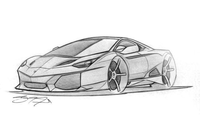 lamborghini drawing lamborghini drawing drawing ideas personal - Lamborghini Black And White Drawing