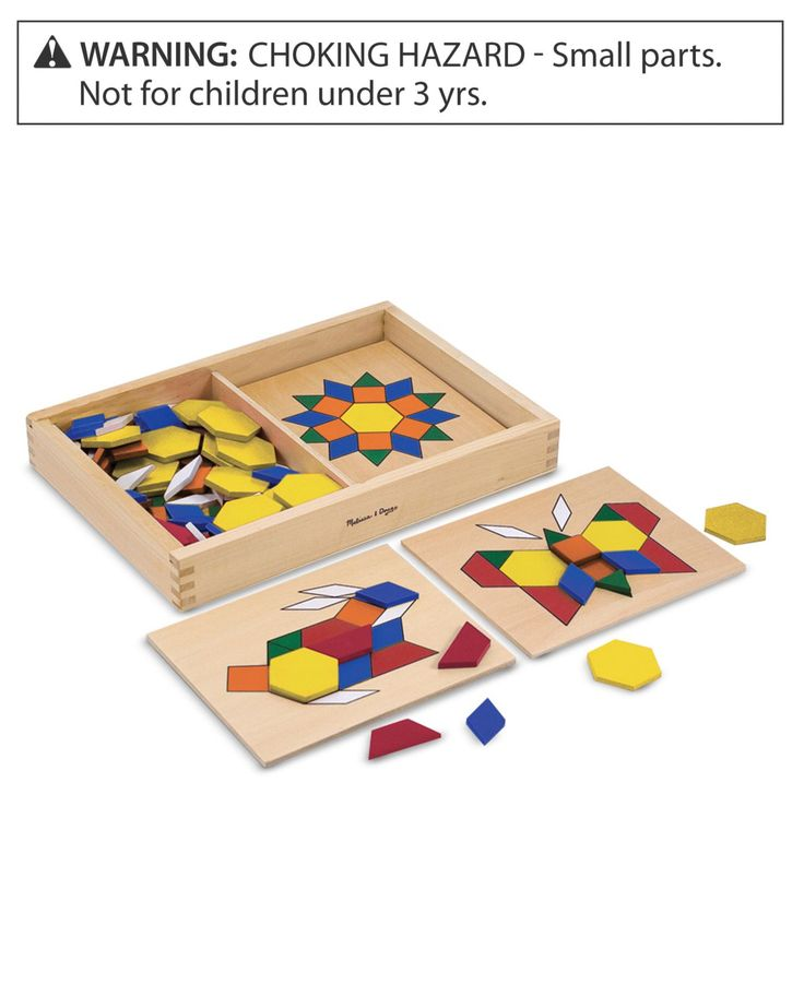 Melissa and Doug Toy, Pattern Blocks and Boards - Kids - Macy's