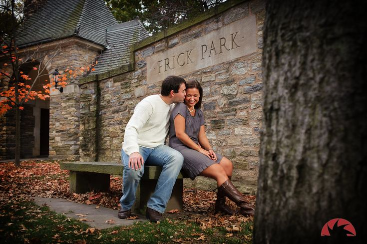 Carrie and Kyle  Frick Park Engagement Photos