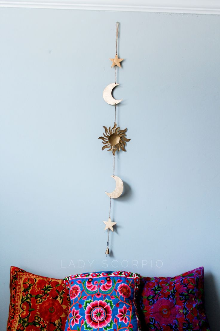Sun ❂ Moon ☾Stars✶ Decor Save 25% off all orders with code PINTERESTXO at checkout   Bohemian Bedroom + Home Decor   Mandala Tapestries, Moon Phase Wall Hanging & Twilights Decor by Lady Scorpio   Gold tapestry • Shop Now LadyScorpio101.com   @LadyScorpio101   Photography by Luna Blue @Luna8lue ••