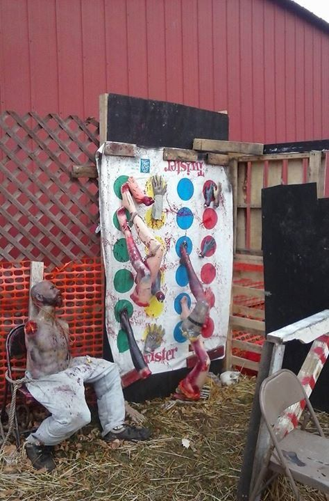 Halloween Twister Game CarnEvil style- for the clown section of haunted house?