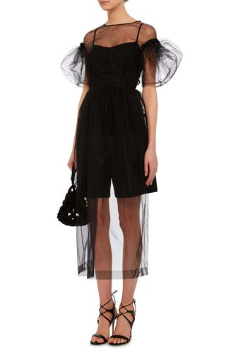 Sheer Tulle Puffed Sleeve Dress by SIMONE ROCHA Now Available on Moda Operandi