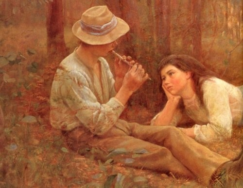 McCubbin, Frederick - The Flute Player
