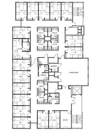 architecture plans for students residence - Google Search
