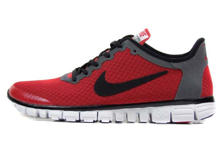 nike free 3.0 v2 dark red black running shoes