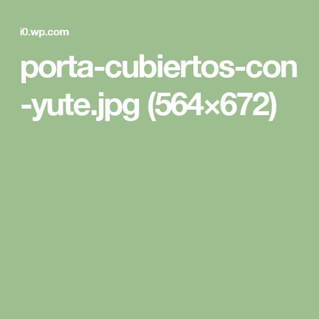 porta-cubiertos-con-yute.jpg (564×672)