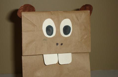 He's not red and white, but I love this Canada Day beaver craft for kids!