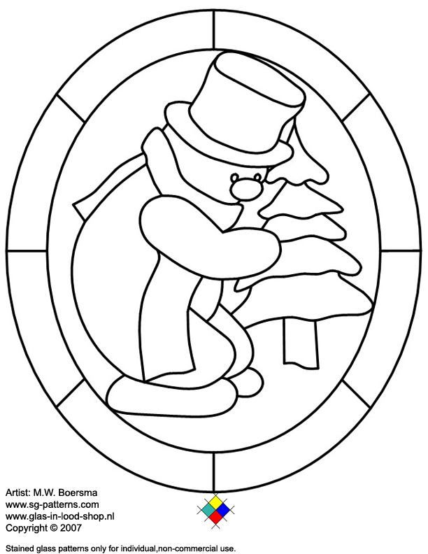 Snowman: Christmas Pattern, Stainglass, Snowman Coloring Pages, Snowman Pattern, Stained Glass Pattern, Stained Glass