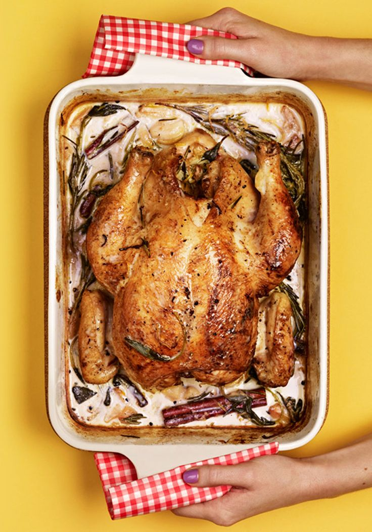Find out what chef Jamie Oliver's secret roast chicken ingredient is in this simple, tasty recipe.