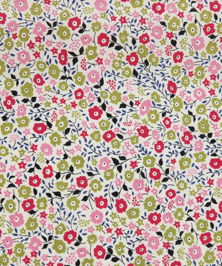 Fairford Tana Lawn - This print was designed by Liberty's in-house studio for the spring summer 2008. Research for that season was on various styles of gardens from great country houses to small town courtyards. It has been recoloured for the classic tana range of 2011.