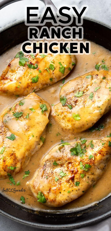 Easy Ranch Chicken Easy Chicken Recipes Healthy Dinner Recipes Chicken Chicken Dinner Recipes
