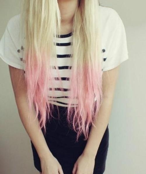 blonde hair with pink tips tumblr wwwimgkidcom the