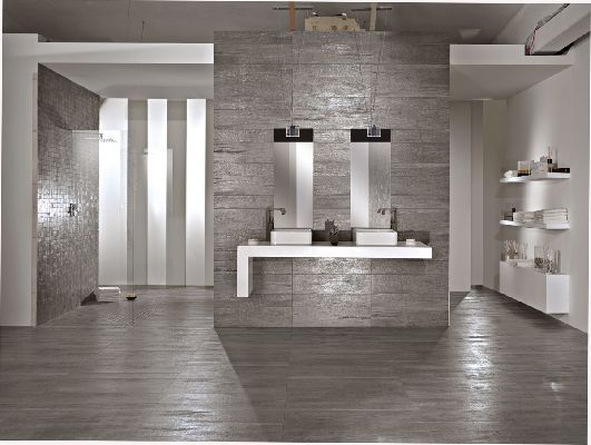 Exellent Gray Ceramic Tile Bathroom R On Decor