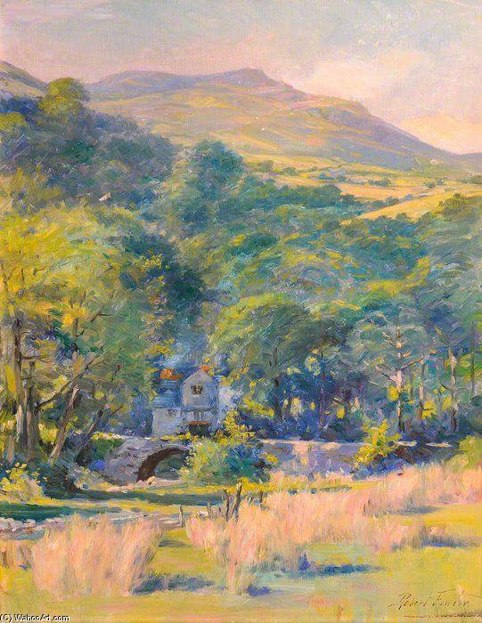 Maison au milieu d arbres de Robert Fowler (1853-1926, United Kingdom)