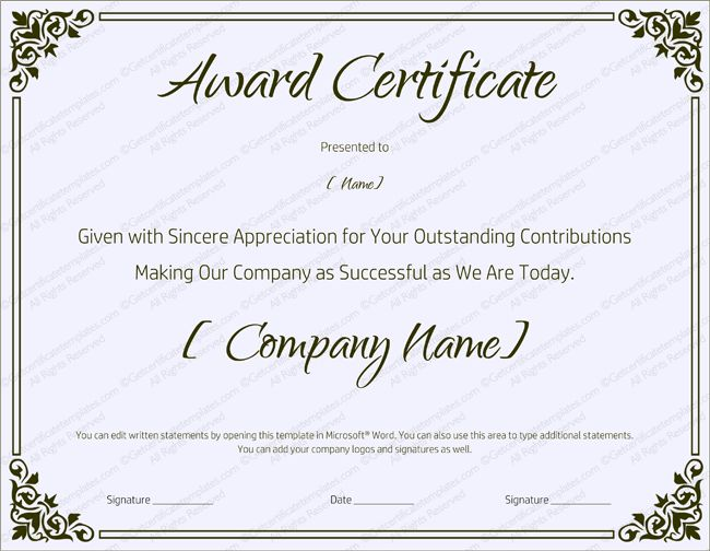 Best Work Certificates Images On   Certificate Sample