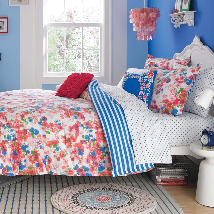 teen vogue rosie posie cotton 3piece comforter set by teen vogue