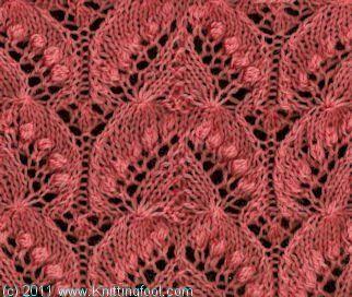 Nupp Lace 1 - Knittingfool Stitch Detail