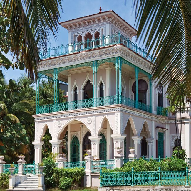 The ostentation of Palacio del Valle reflects the vast fortune acquired by the sugar planter Aclicio Valle, who built the mansion in 1912 - Cuba