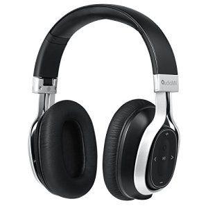 AudioMX Casque Audio Bluetooth 4.1 aptX Stéréo Circum-aural Anti-bruit Passif avec Microphone Sans Fil Pliable 24h d'Autonomie