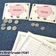 money activities, money in first grade, money games,