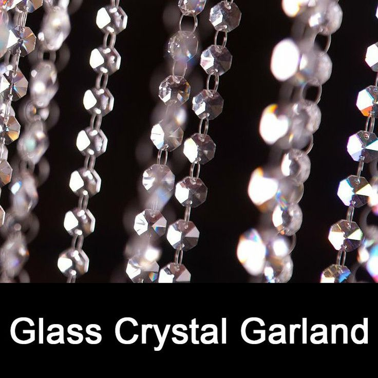 16 best crystal garlands images on pinterest beaded garland 50 meters clear crystal glass beaded garlands chandelier crystal strands for wedding centerpiece decorations and party aloadofball Image collections