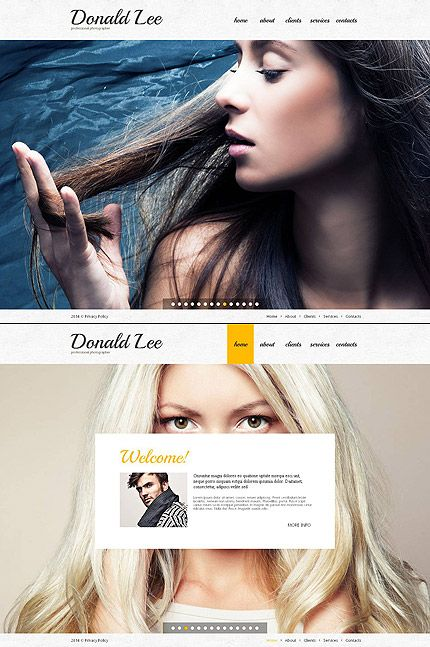 Template 48871 - Photo Gallery Website Template