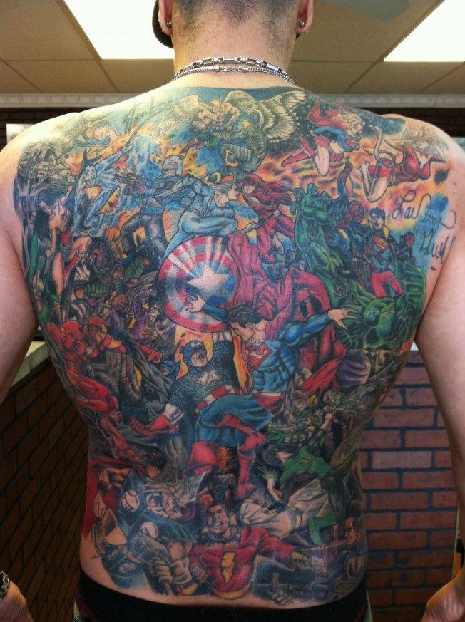 98cafd4d3c Marvel Tattoos for Men | Comic Book Tattoos for Men | Marvel tattoos,  Tattoos, Avengers tattoo