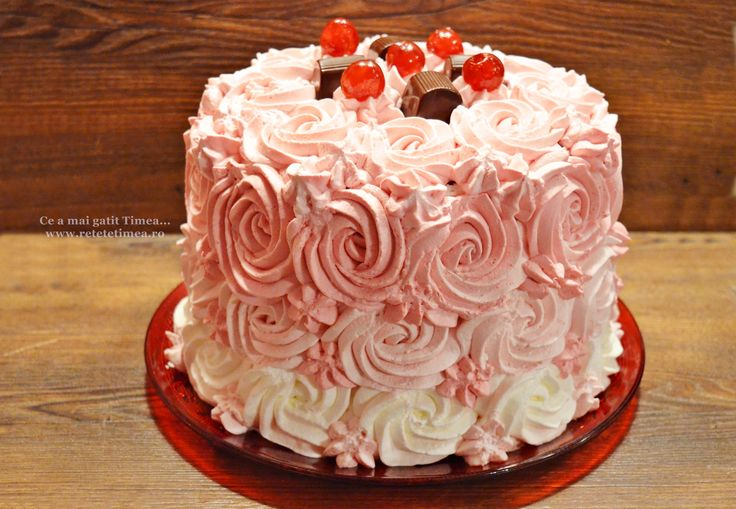 Tort spirala cu ciocolata si visine