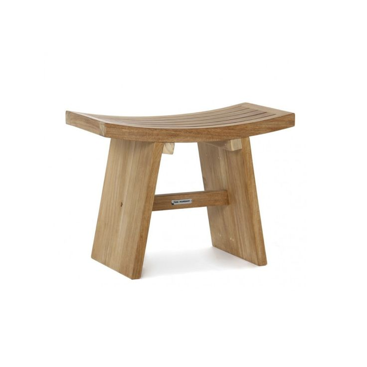 Kyoto Shower Stool from Ambience Store. This Japanese inspired stool is made of beautifully finished teak and stainless steel fittings. Looks great in the living room, on the balcony or outdoor shower. The seat is also dining chair height which is great for any extra guests.
