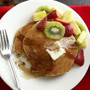 Healthy Breakfast and Brunch Recipes - Whole-Wheat Buttermilk Pancakes - Cooking Light
