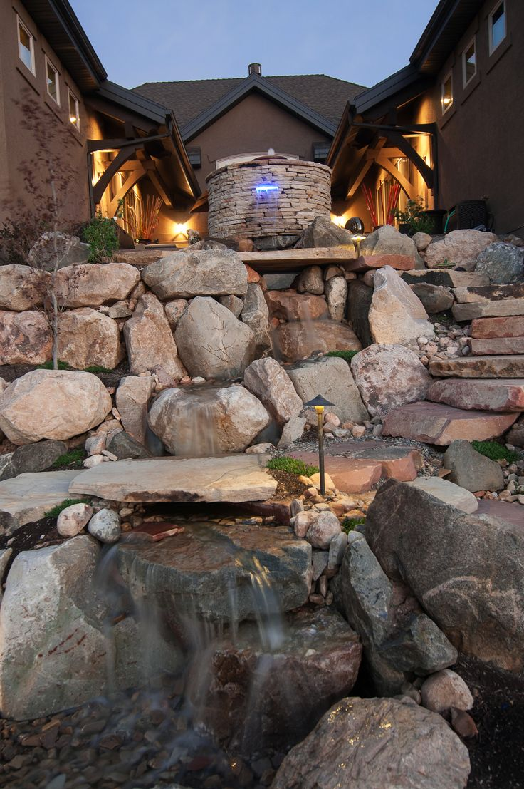 ... Pond & Waterfall on Pinterest | Trout, Rainbow Trout and Backyard