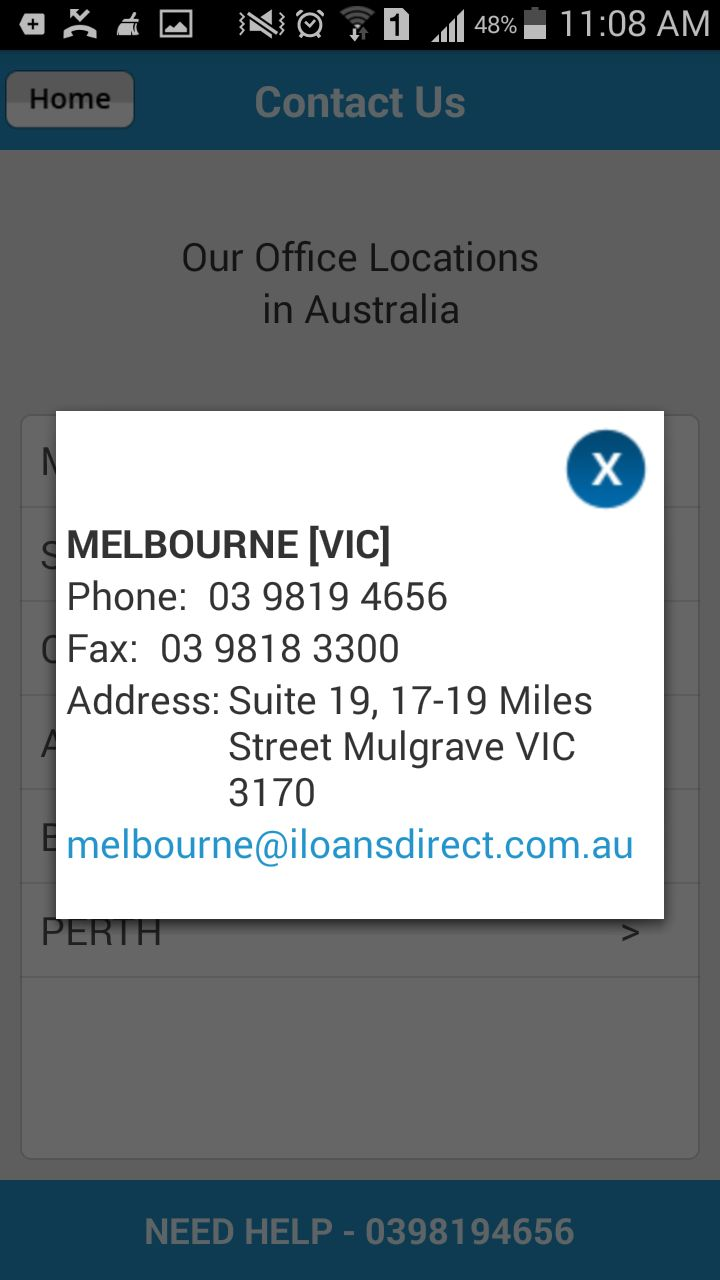 Complete address as well as contact info of the #LoansDirect Melbourne office is available at #LoansCalculatorForAustralia.