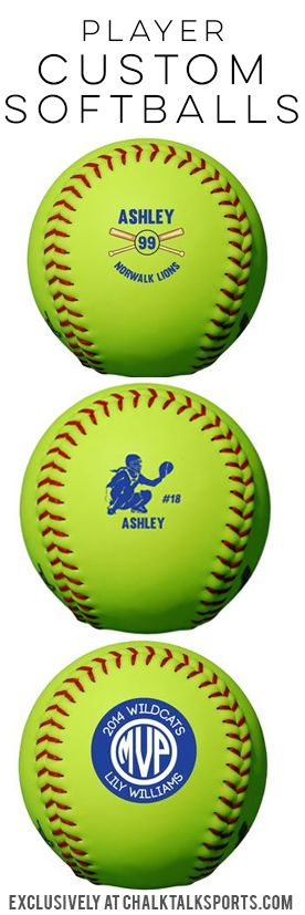 Think of how excited your softball player will be when they receive a personalized softball as a surprise!